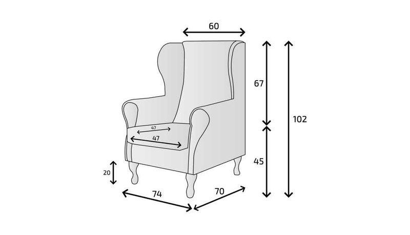 Fotel uszak różowy gładki zdjęcie 7