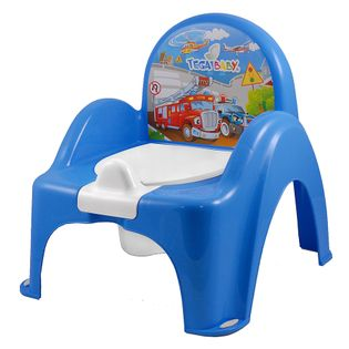 TEGA PO-053-120 Nocnik krzesełko z pozytywką AUTA niebieski