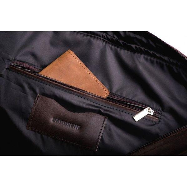 794251a943a63 Męska torba na ramię ze skóry ciemny brąz / czarna wyściółka • Arena.pl