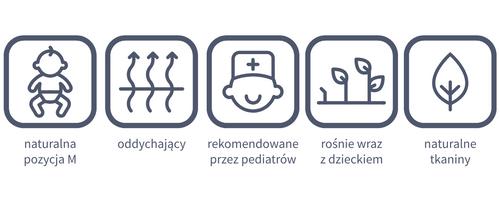 Chusta Zaffiro Be Close tkana splotem skośno-krzyżowym na Arena.pl