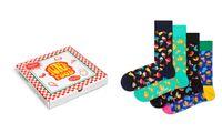SKARPETKI DAMSKIE HAPPY SOCKS JUNK FOOD PIZZA BOX 4 PARY 36-40
