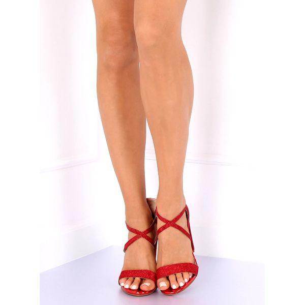 Sandałki na słupku czerwone NC791 Red r.36 zdjęcie 6