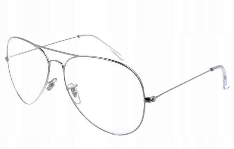Aviator okulary pilotki oprawki korekcyjne metal zdjęcie 2