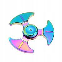 Fidget Spinner Metalowy Tęczowy wzór 5 BOX HIT