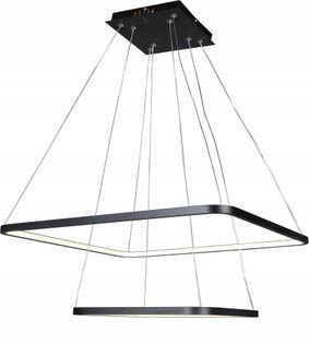 Lampa wisząca żyrandol kwadratLED 30+50 FABIO II nowoczesna 45W Wobako
