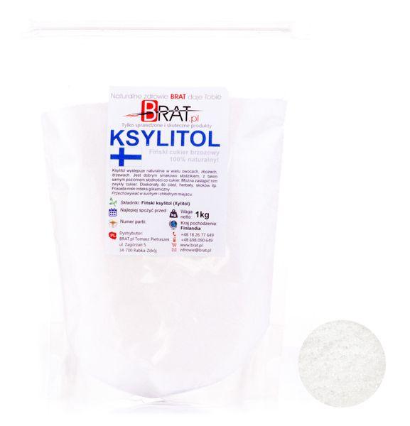 Ksylitol,xylitol 1kg CZYSTY FIŃSKI cukier brzozowy zdjęcie 1
