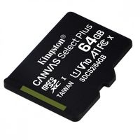 Kingston Karta pamięci microSD  64GB Canvas Select Plus 100MB/s