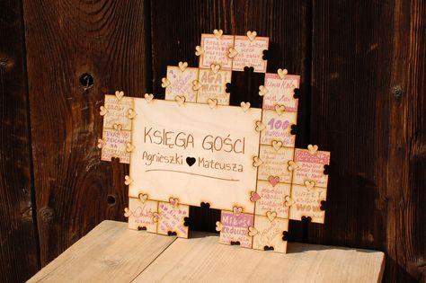 Księga gości – puzzle, układanka, ślub, wesele