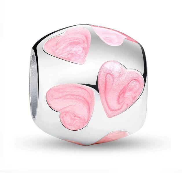 "Charms do Pandora "" Różowe Serca"" zdjęcie 1"