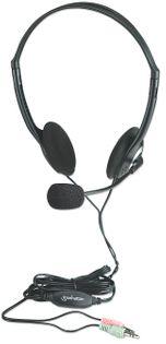 Manhattan Słuchawki Komputerowe Stereo z Mikrofonem Jack 3.5mm 164030