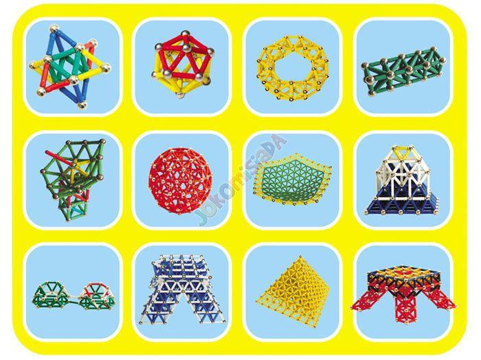 Klocki Magnetyczne 60 elementów MAGNASTIX ZA0655 zdjęcie 5