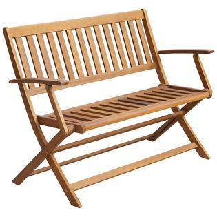 Lumarko Ławka ogrodowa z poduszką, 120 cm, lite drewno akacjowe;