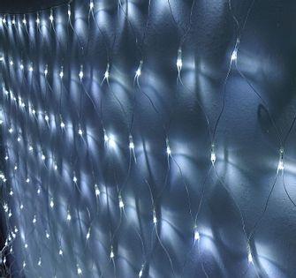 Siatka girlanda kurtyna 3.0x2.4m 160 białych lampek choinkowych