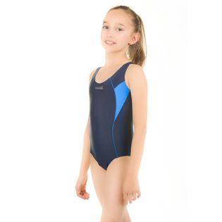 Kostium pływacki KATE roz.134-152 Kolor - Stroje damskie - Kate Kid - 42 - granat / niebieski, Rozmiar - Stroje dziecięce - 140
