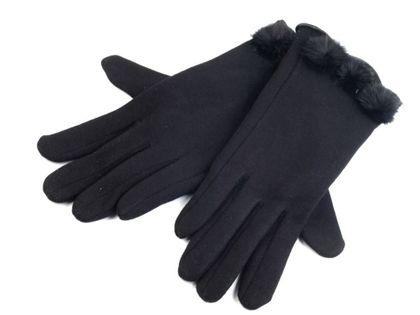 Rękawiczki damskie z dzianiny z futerkiem roz. L