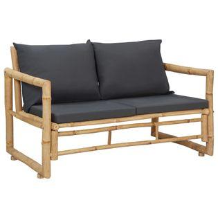 Lumarko Ławka ogrodowa z poduszkami, 115 cm, bambusowa!