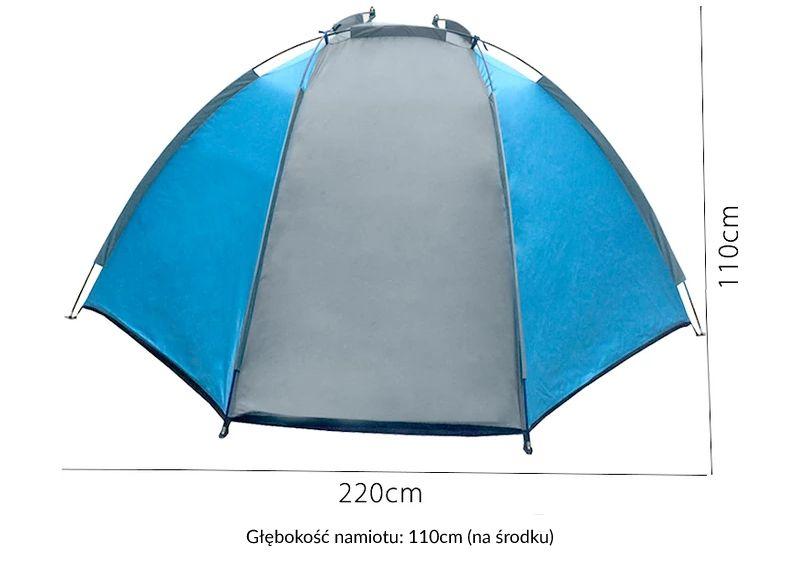 Duży namiot plażowy parawan wiatrochron + zestaw zdjęcie 3