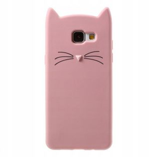Etui do Samsung A10 Kot 3D Uszy Wąsy