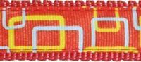 Kpl. smycz/obroża NT Happet SC44 czerwony 2.5cm