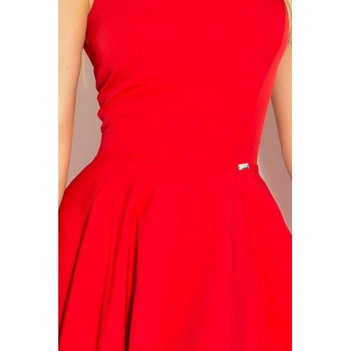 Sukienka z koła dekolt w kształcie serca marciano CZERWONA M