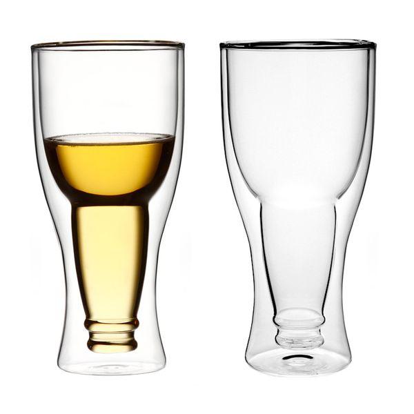 Szklanki Kufle Termiczne z Podwójną Ścianką Piwa Pokale 350ml 6 sztuk zdjęcie 4