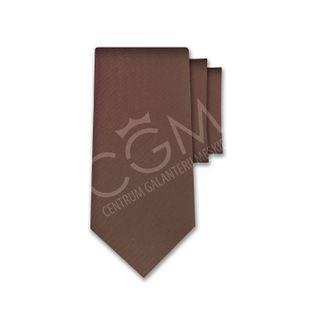 Krawat jednolity brązowy - czekoladowy