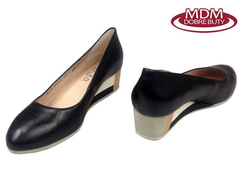 17285ded Czółenka RYŁKO 5I200 czarny Rozmiar obuwia - 39,5, Kolor - Czarny zdjęcie 3