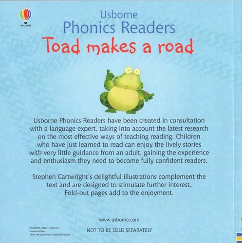 Usborne Phonics Readers - Toad makes a road na Arena.pl