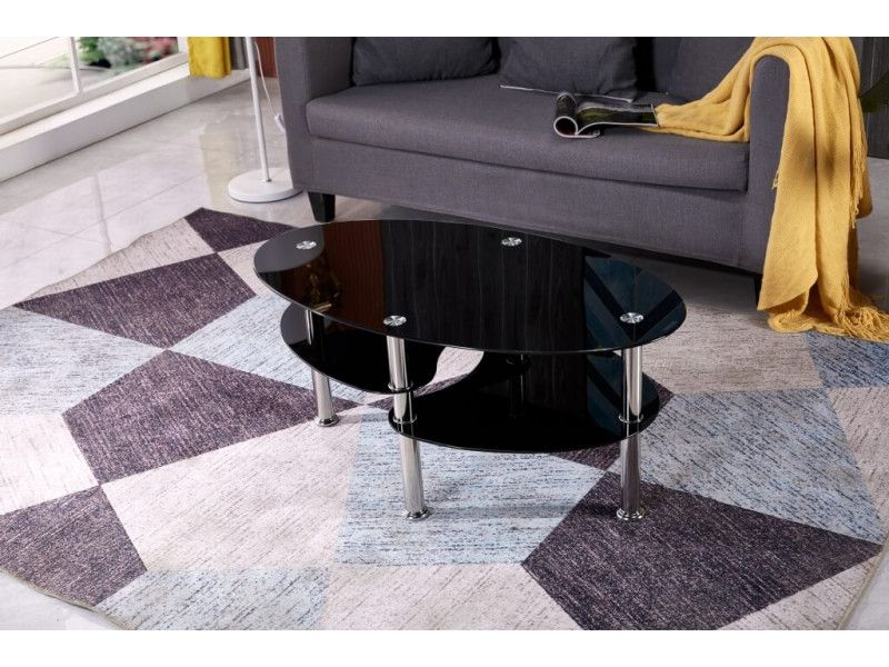 Stolik kawowy ława szklana stoliki szklane salon 110x60 blat górny 8mm zdjęcie 12