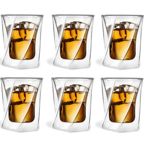 Szklanki Termiczne z Podwójną Ścianką do Whisky Drinków 250ml 6 sztuk zdjęcie 1