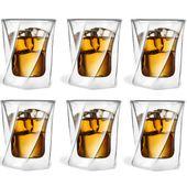 Szklanki Termiczne z Podwójną Ścianką do Whisky Drinków 250ml 6 sztuk