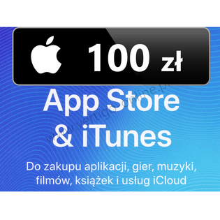 App Store iTunes 100 zł Doładowanie Apple, iPhone