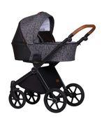 Baby Merc Mango wózek dziecięcy 3w1 grafitowy wzór