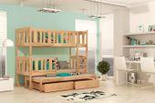 Łóżko piętrowe KUBUŚ 3 190x80 + szuflady + materace