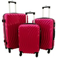 Zestaw 3 walizek PELLUCCI RGL 760 Różowe