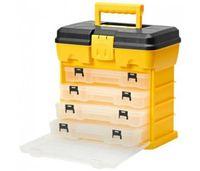 Szafka z przegródkami narzędziowa z pudełkami 17szt organizer wózek swe