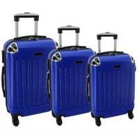 Zestaw 3 walizek PELLUCCI RGL 735 Niebieskie