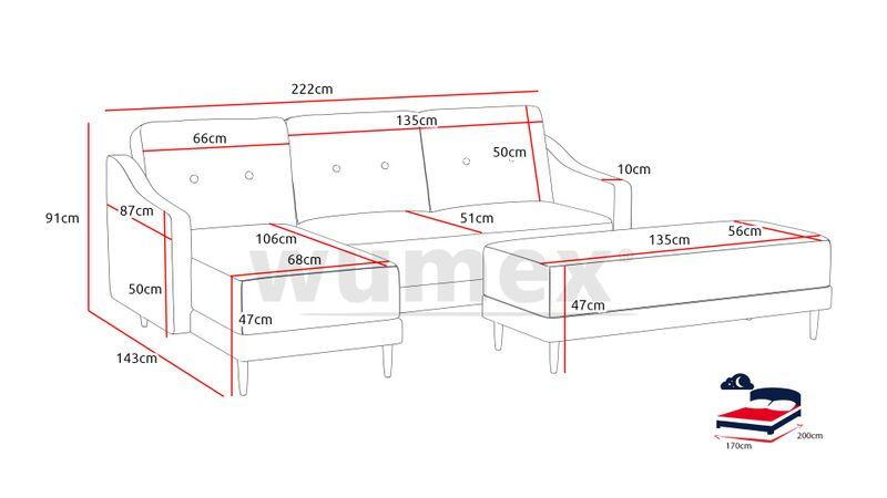 Narożnik Macro funkcja SPANIA łóżko ROGÓWKA sofa zdjęcie 2
