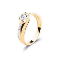 Złoty pierścionek z cyrkoniami ROZMIAR - 23