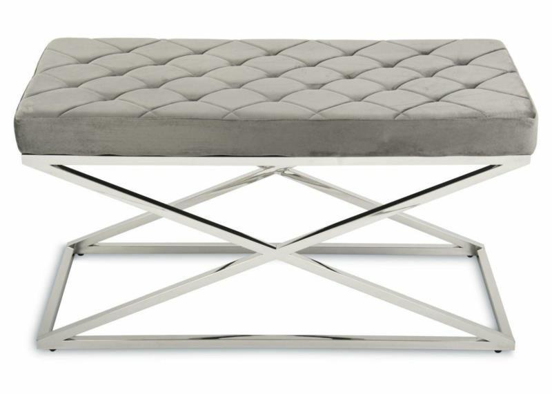 Pikowana pufa siedzisko ławeczka ławka Glamour zdjęcie 1