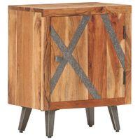Szafka nocna, 40 x 30 x 50 cm, lite drewno akacjowe