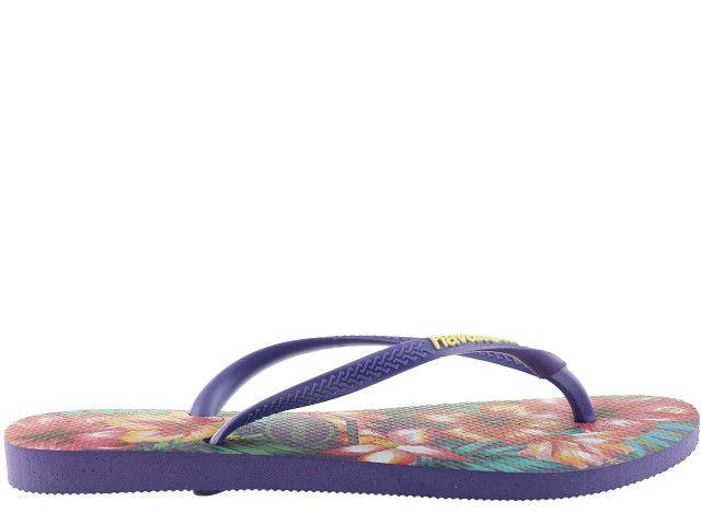 Japonki Havaianas Slim Hibisco Purple 4141590-0719 - 35/36 zdjęcie 1