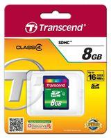 Transcend Karta pamięci SDHC 8GB Class4 18/6 MB/s