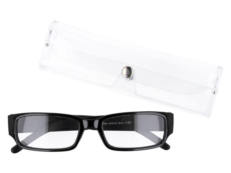 Czarne okulary zastępcze do czytania plusy +1.00 zdjęcie 1