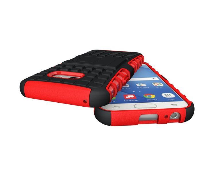 Pancerne etui Kickstand Samsung Galaxy A3 2017 A320 czerwone zdjęcie 5