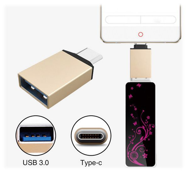 ADAPTER OTG USB-C typ C - USB 3.0 MYSZKA PENDRIVE DO TELEFONU / KOMP na Arena.pl