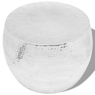 Okrągły stolik do kawy z aluminium, srebrny