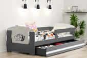 Łóżko pojedyncze FILIP 160x80 dla dzieci + SZUFLADA + BARIERKA zdjęcie 9
