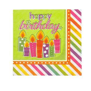 Serwetki Urodzinowe Świeczki Urodziny Party 20szt