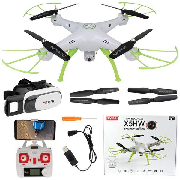 Dron Syma X5HW kamera Wi-Fi funkcja zawisu Gogle VR 3D Biały Y142GB zdjęcie 1